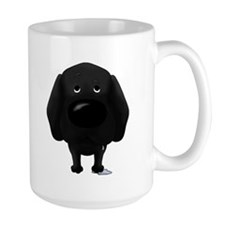 Big Nose/Butt Black Lab Mug