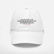 Catholic Conservative American Baseball Baseball Cap