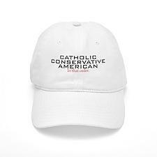 Catholic Conservative American Baseball Cap