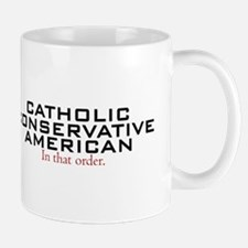 Catholic Conservative American Mug