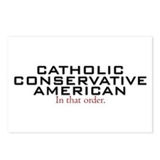 Catholic Conservative American Postcards (Package