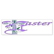 Easter Cross Bumper Bumper Sticker