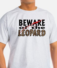 Beware the Leopard! Ash Grey T-Shirt