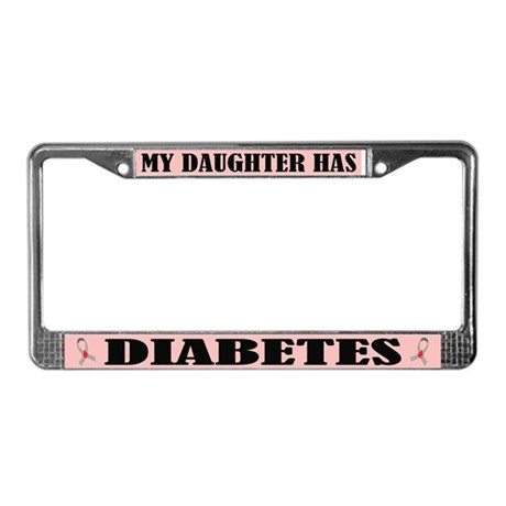 Diabetes Daughter License Plate Frame