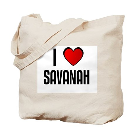 I LOVE SAVANAH Tote Bag
