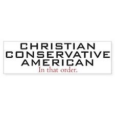 Christian Conservative American Bumper Bumper Sticker