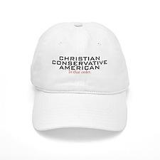 Christian Conservative American Baseball Cap