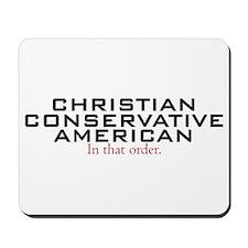 Christian Conservative American Mousepad