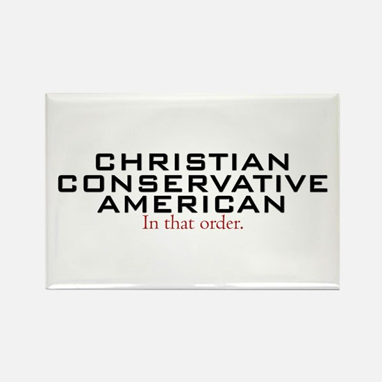 Christian Conservative American Rectangle Magnet