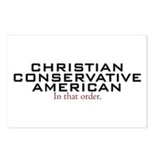 Christian Conservative American Postcards (Package
