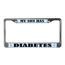 Son Has Diabetes License Plate Frame