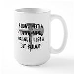 God Bailout Large Mug