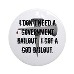 God Bailout Ornament (Round)