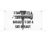 God Bailout Banner