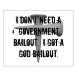 God Bailout Small Poster