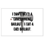 God Bailout Large Poster