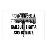 God Bailout Postcards (Package of 8)
