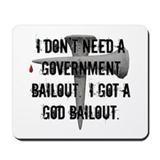 God Bailout Mousepad