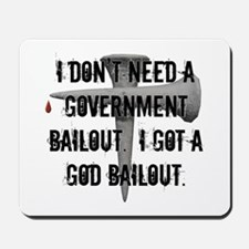 God Bailout Mousepad