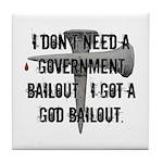 God Bailout Tile Coaster
