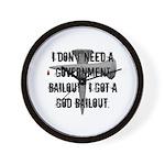 God Bailout Wall Clock