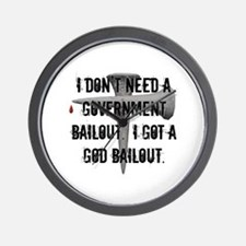 God Bailout Wall Clock