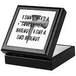 God Bailout Keepsake Box