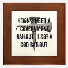 God Bailout Framed Tile