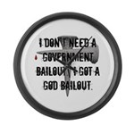 God Bailout Large Wall Clock