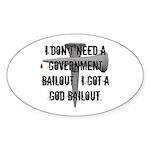 God Bailout Oval Sticker (10 pk)