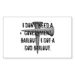 God Bailout Rectangle Sticker 10 pk)