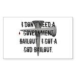 God Bailout Rectangle Sticker 50 pk)