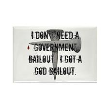 God Bailout Rectangle Magnet