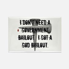 God Bailout Rectangle Magnet (10 pack)