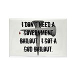 God Bailout Rectangle Magnet (100 pack)