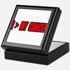 """I Am Greater Than My Cancer"" Keepsake Box"
