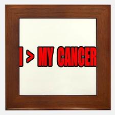 """I Am Greater Than My Cancer"" Framed Tile"