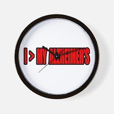 """""""Greater Than My Alzheimer's"""" Wall Clock"""