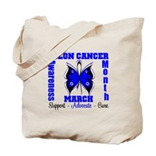 Colon Cancer Month Tote Bag