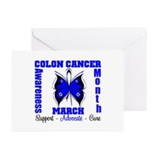 Colon Cancer Month Greeting Cards (Pk of 10)
