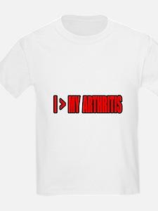 """""""Greater Than My Arthritis"""" T-Shirt"""