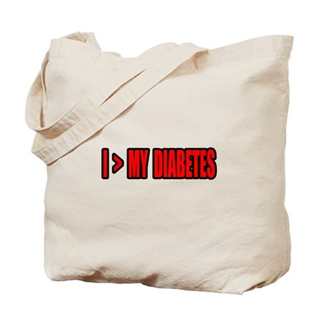 """""""Greater Than My Diabetes"""" Tote Bag"""