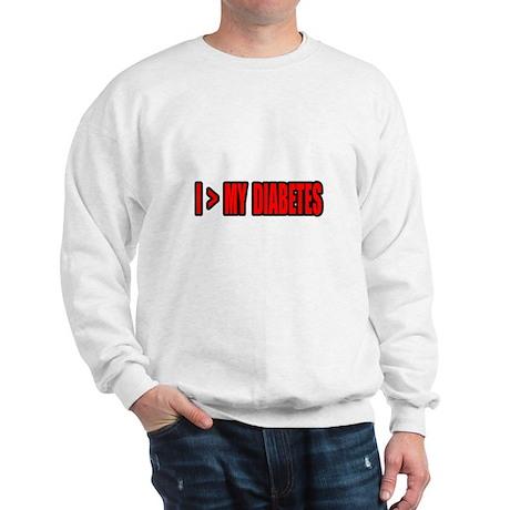 """Greater Than My Diabetes"" Sweatshirt"