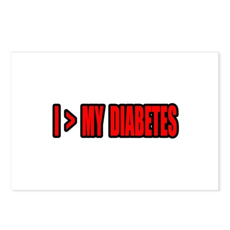 """Greater Than My Diabetes"" Postcards (Package of 8"