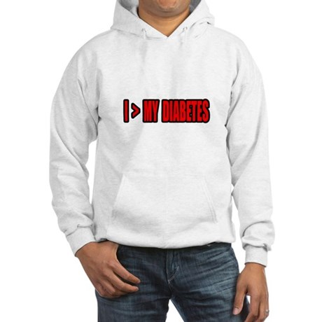 """""""Greater Than My Diabetes"""" Hooded Sweatshirt"""