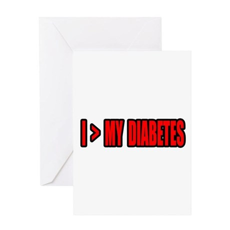 """Greater Than My Diabetes"" Greeting Card"