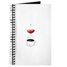 Cute I heart coffee Journal