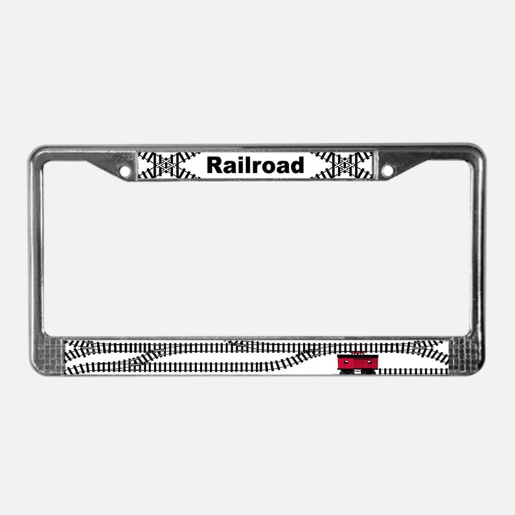 Railroad Train Licence Plate Frames Railroad Train