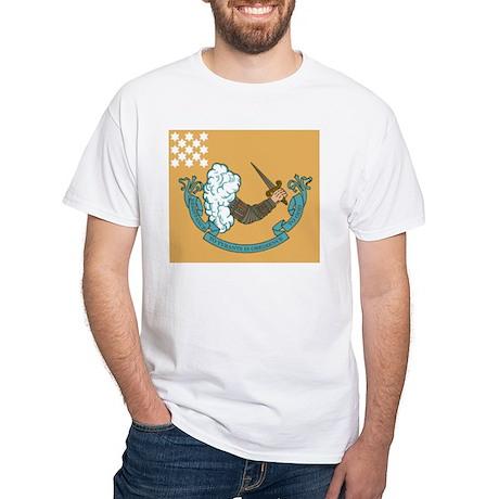 Revolutionary War Battle Flag White T-Shirt