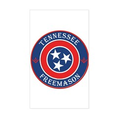 Tennessee Masons Rectangle Decal